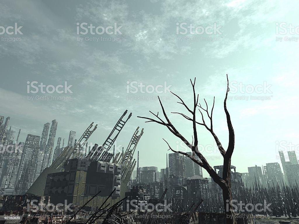 Armageddon Aftermath royalty-free stock photo