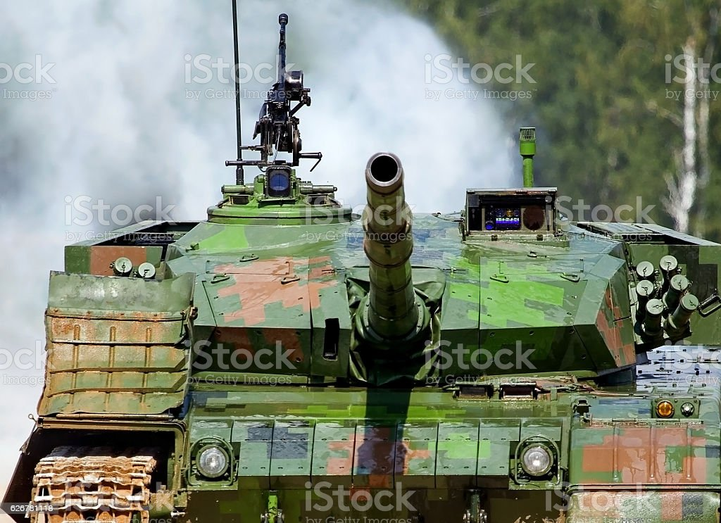 Armament of the tank stock photo