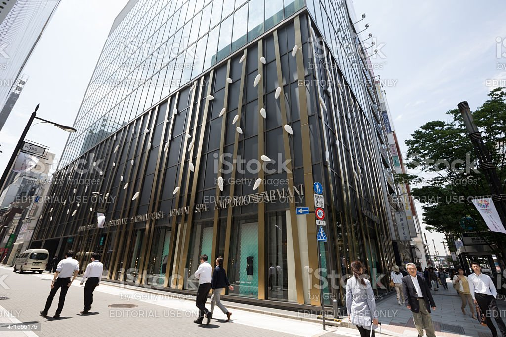 Armani Ginza Tower in Japan royalty-free stock photo