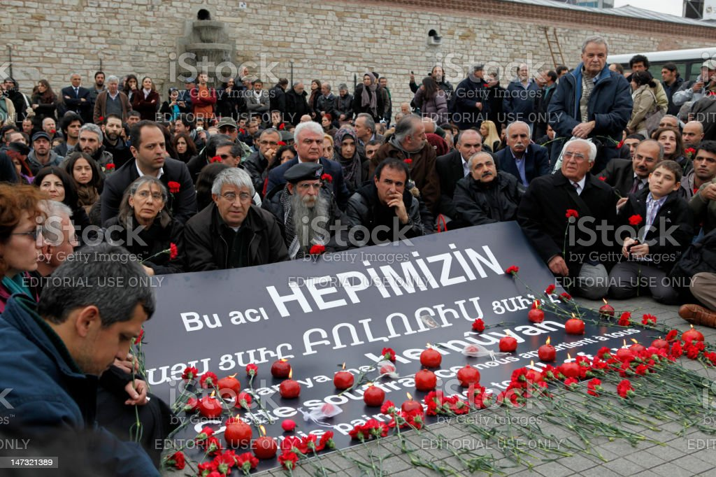 Armanian Genocide Commemoration in Istanbul,Turkey stock photo