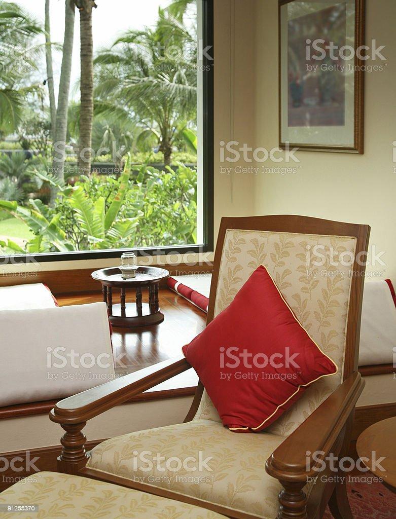 Armchair Besides Window royalty-free stock photo
