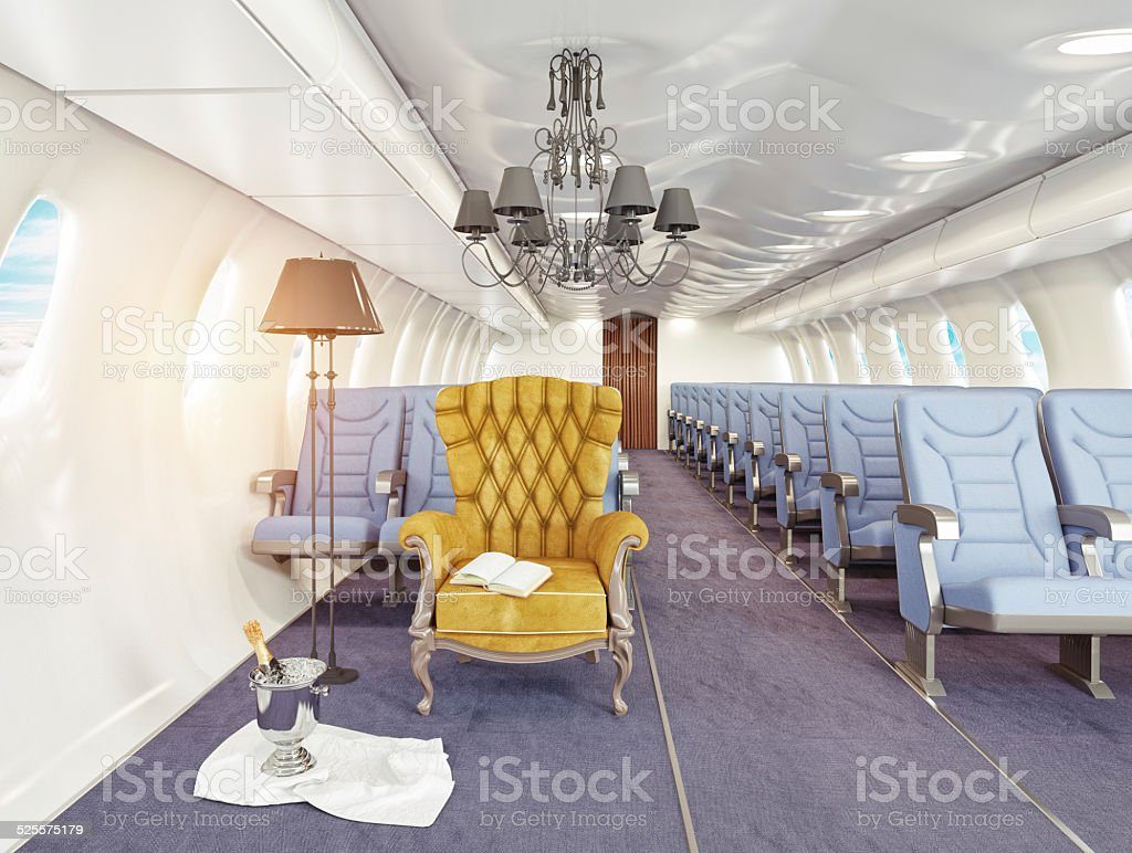 armchair in cabin stock photo