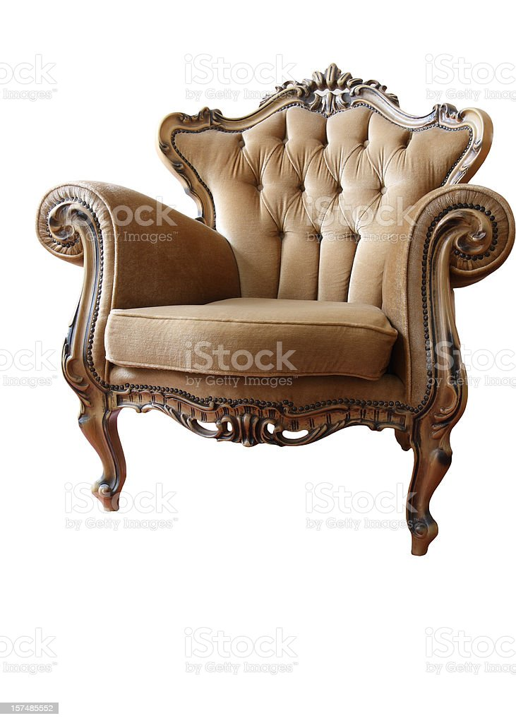 Armchair isolated on white royalty-free stock photo