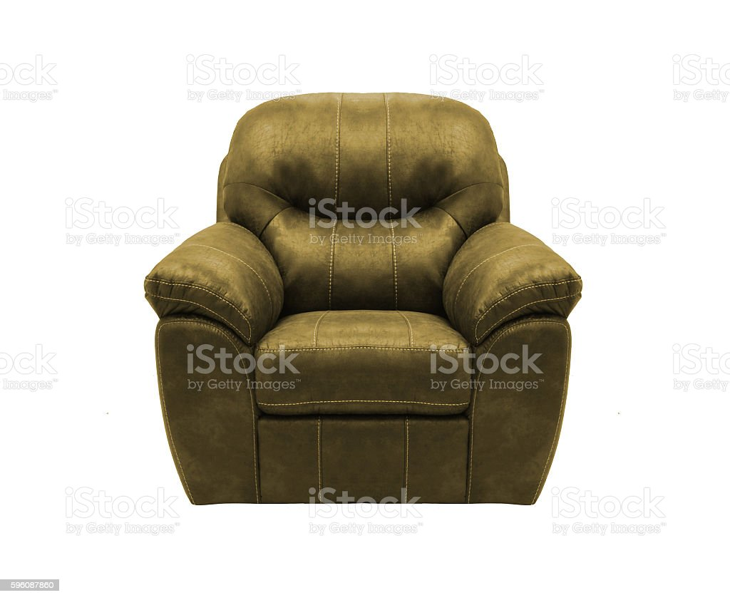 Armchair isolated on white stock photo