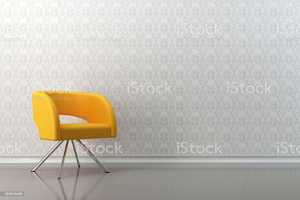 Armchair lounge room royalty-free stock photo
