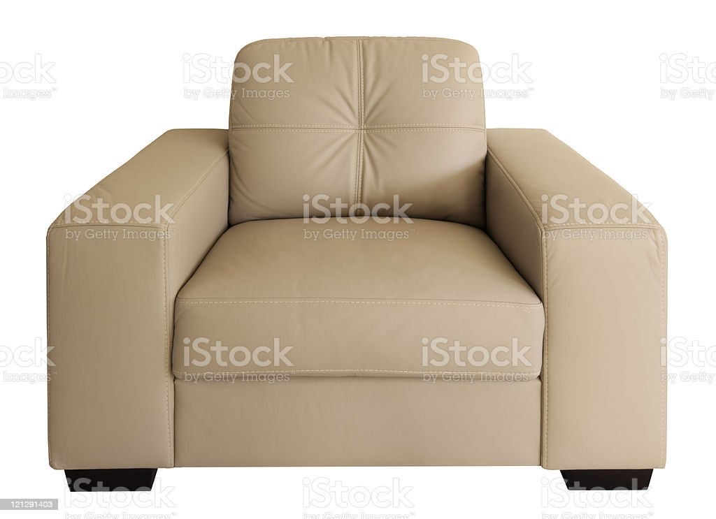 Armchair (with Path) stock photo
