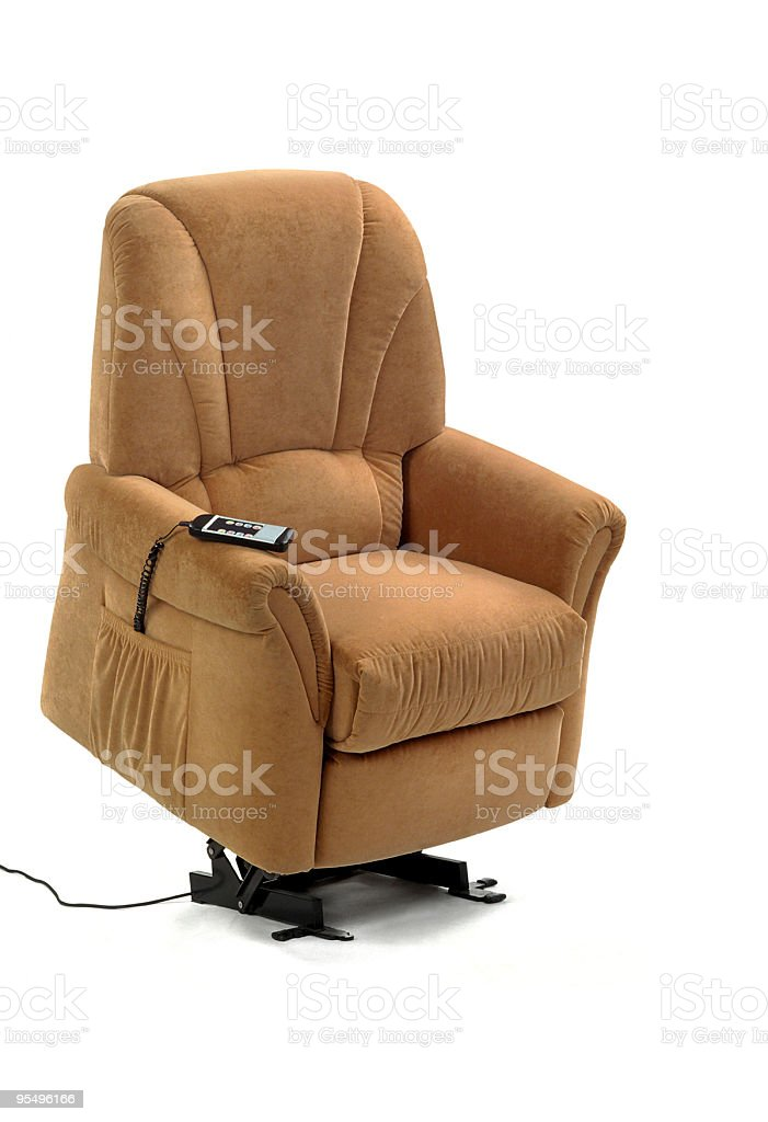 armchair to get up stock photo