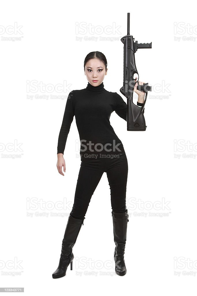 Armed and sexy (series) royalty-free stock photo