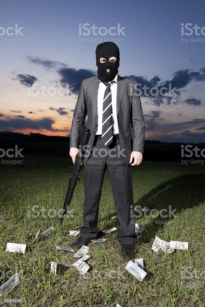 Armed businessman royalty-free stock photo
