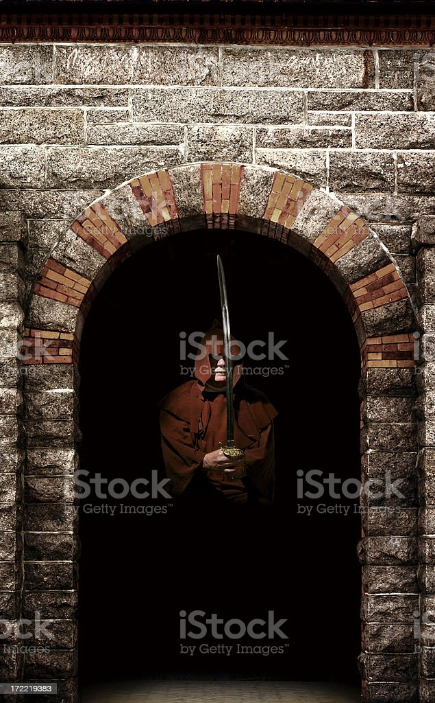 Armed Castle Warrior royalty-free stock photo