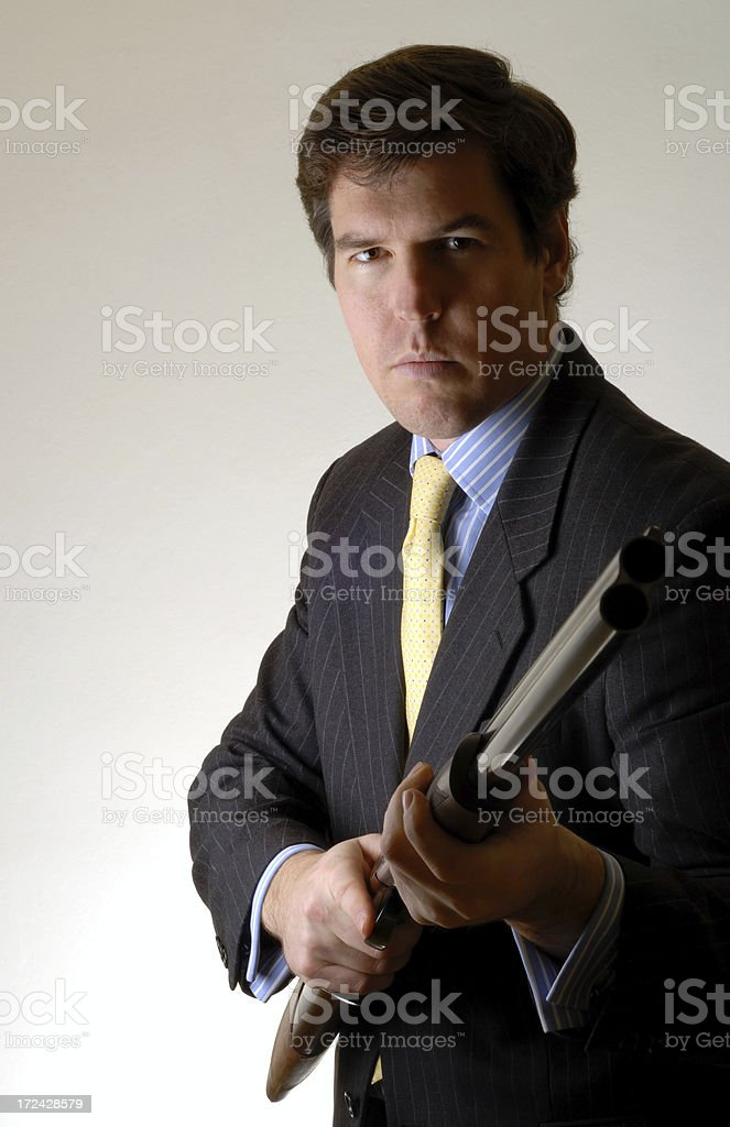 Armed Federal Agent stock photo