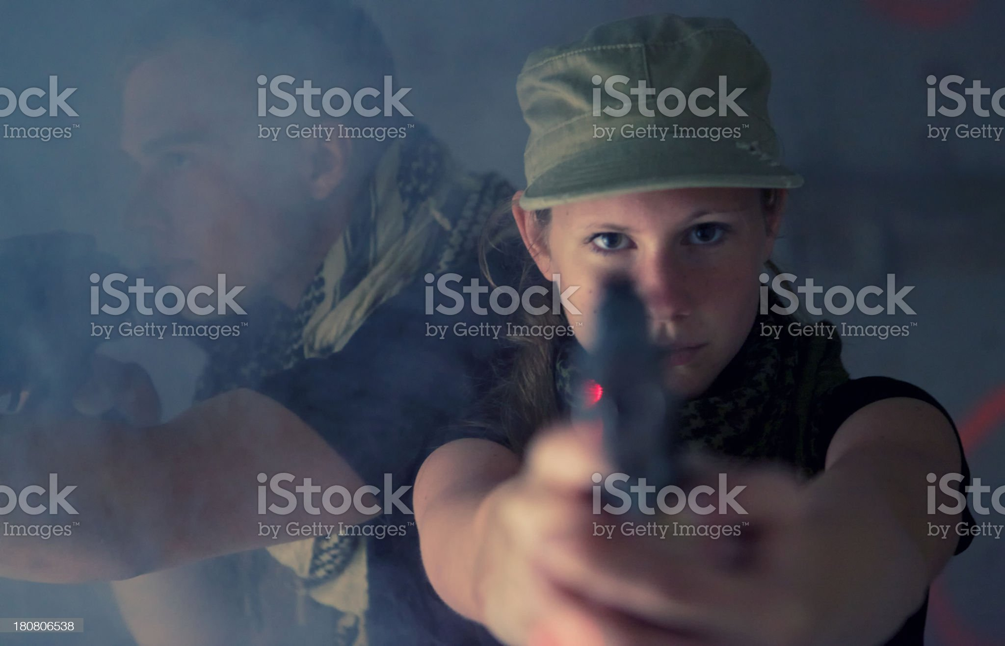 Armed Female royalty-free stock photo