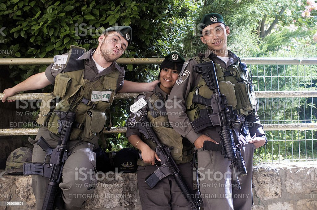 Armed forces group shot stock photo