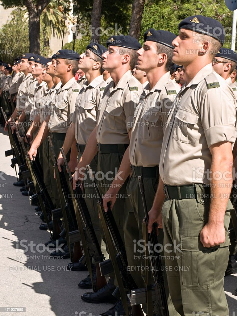 Armed Forces of Malta Recruits royalty-free stock photo