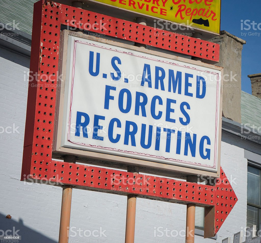 U.S. Armed Forces Recruiting Sign stock photo