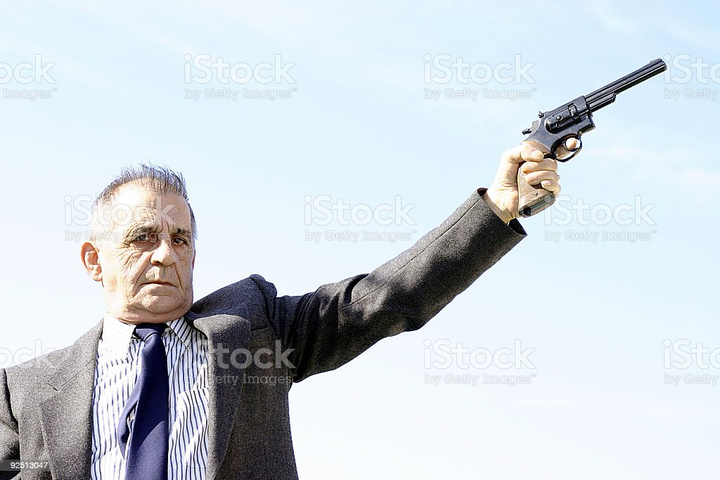 Armed Gentleman royalty-free stock photo