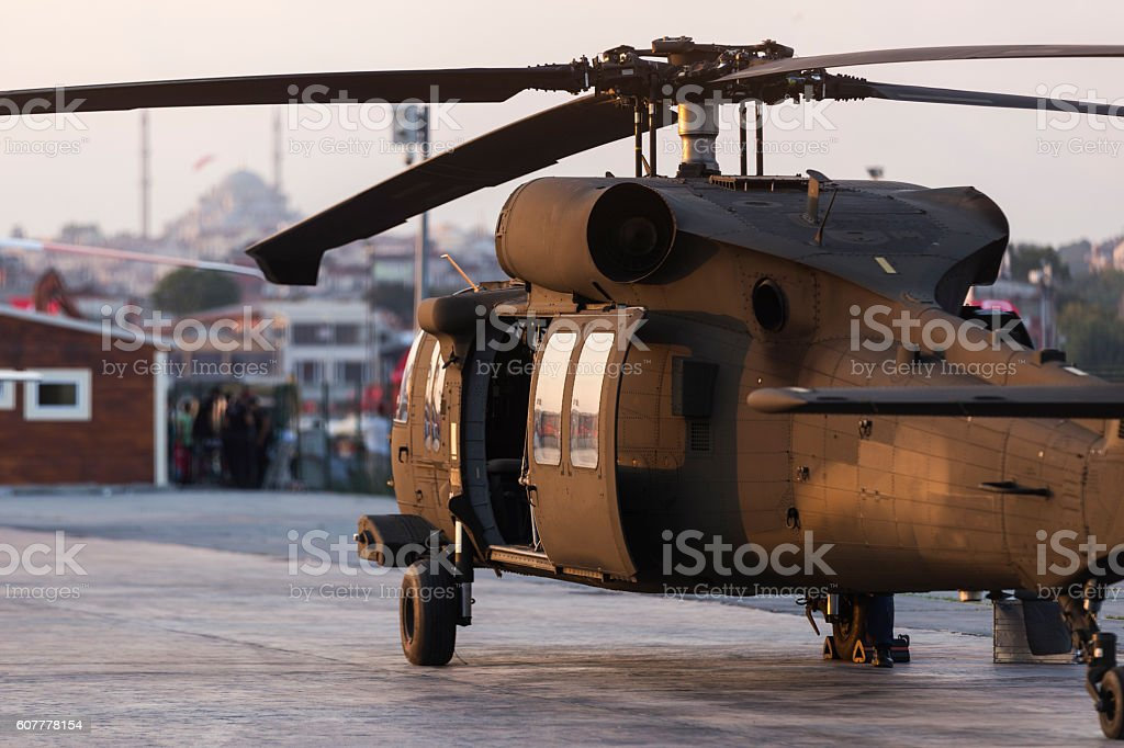 Armed Helicopter stock photo