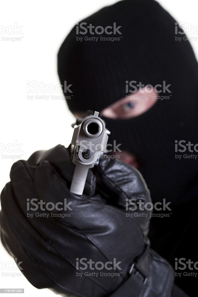 Armed Robber royalty-free stock photo