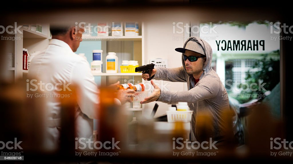 Armed Robbery stock photo