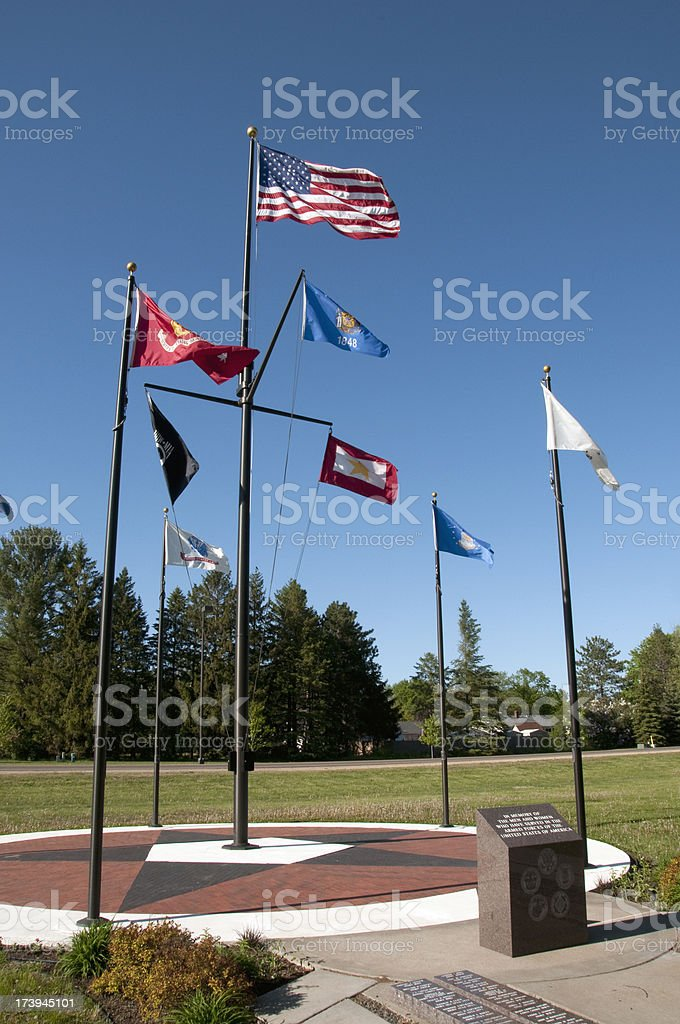 Armed Services Memorial stock photo