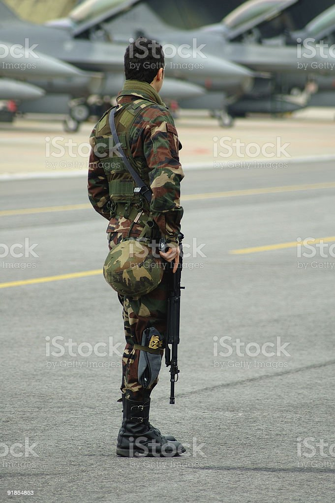 armed soldier 2 royalty-free stock photo
