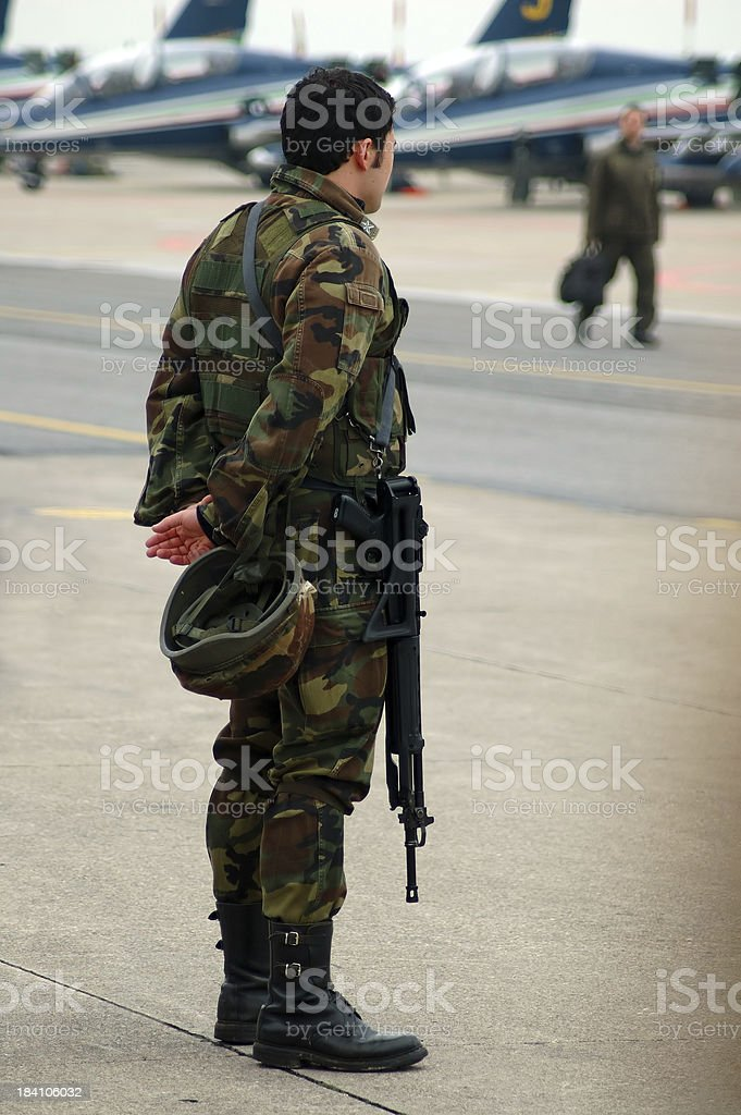 Armed soldier 3 royalty-free stock photo