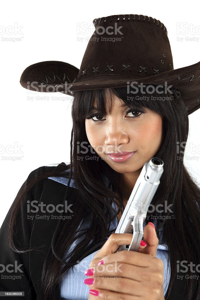 Armed Woman royalty-free stock photo