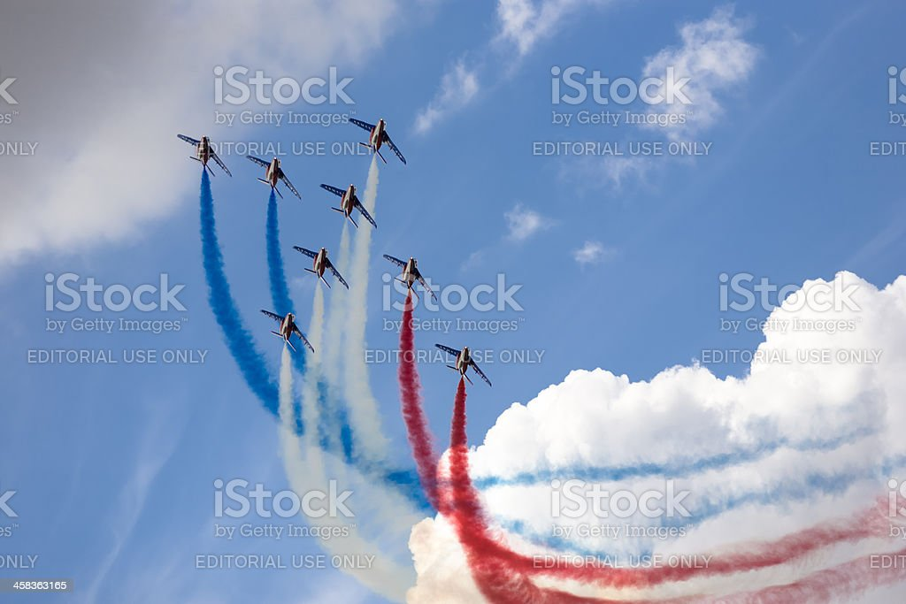 Armee de l'Air French air force display team RIAT 2010 stock photo
