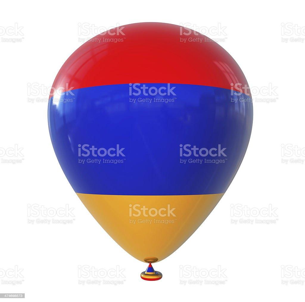 Armenia Flag on Balloon stock photo