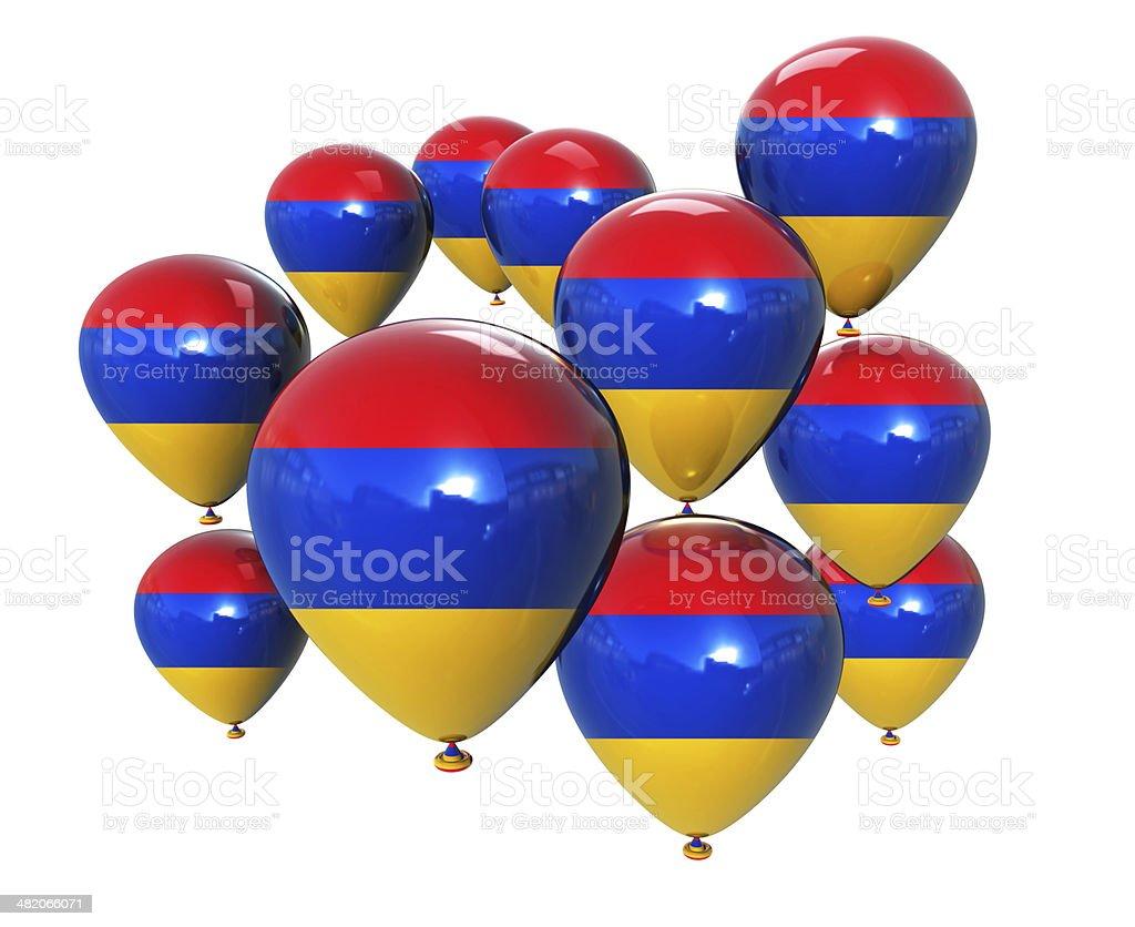 Armenia Flag on Balloons stock photo