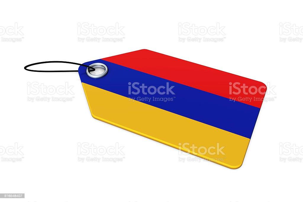Armenia Flag on Price Tag stock photo