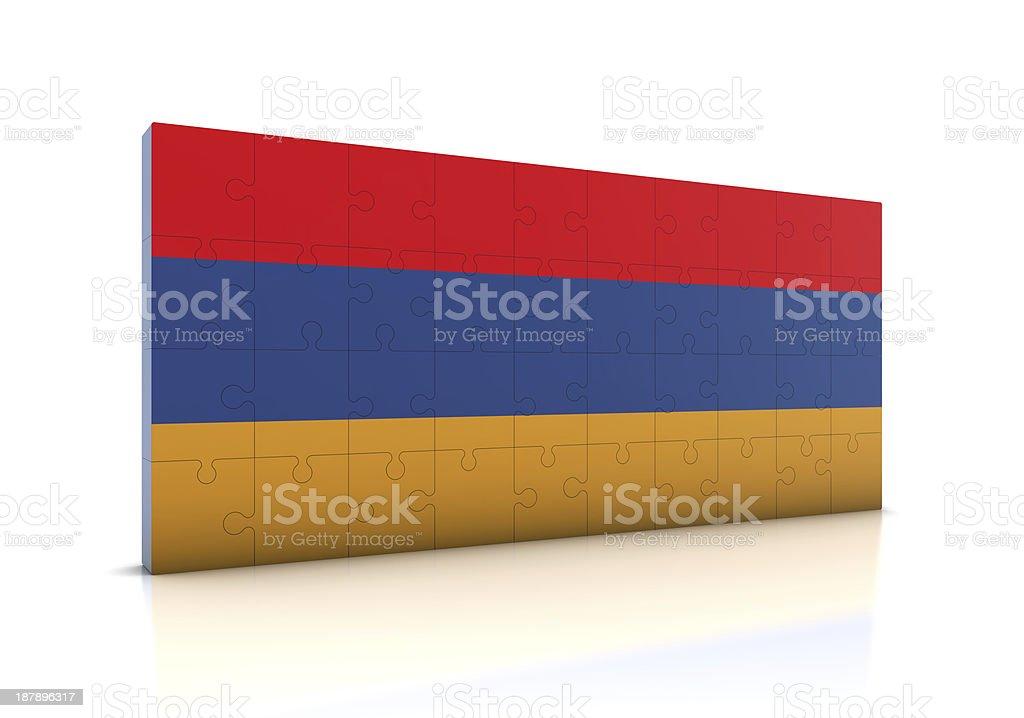 Armenia Flag on Puzzle stock photo