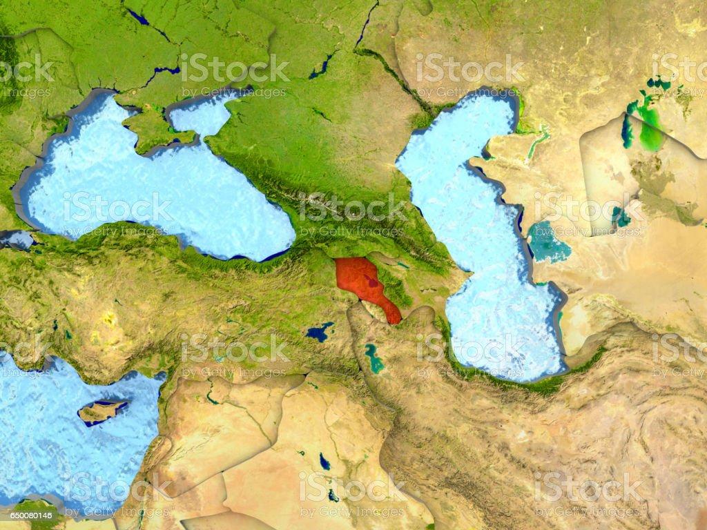 Armenia in red stock photo