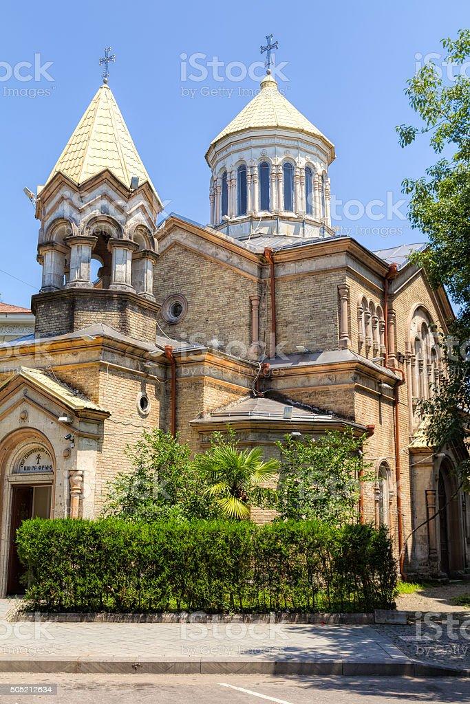 Armenian Apostolic Church Surb Christ Amenaprkich in Batumi stock photo