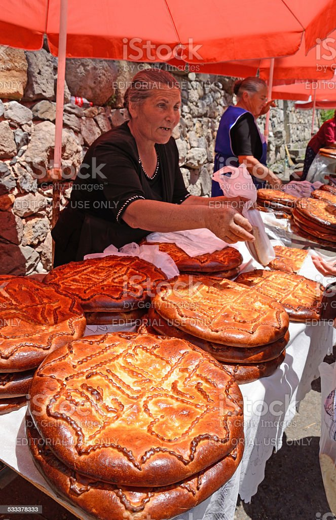 Armenian bread stock photo