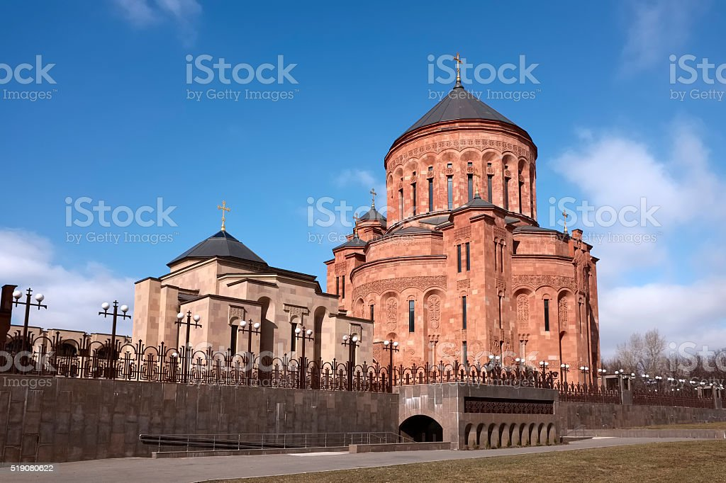 Armenian church complex in Moscow stock photo