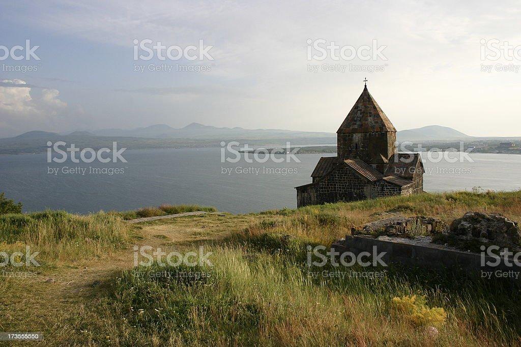 Armenian church stock photo
