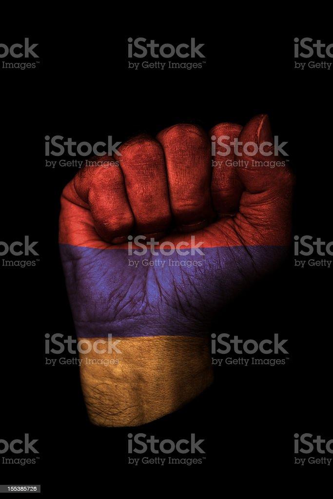 Armenian Fist Flag stock photo