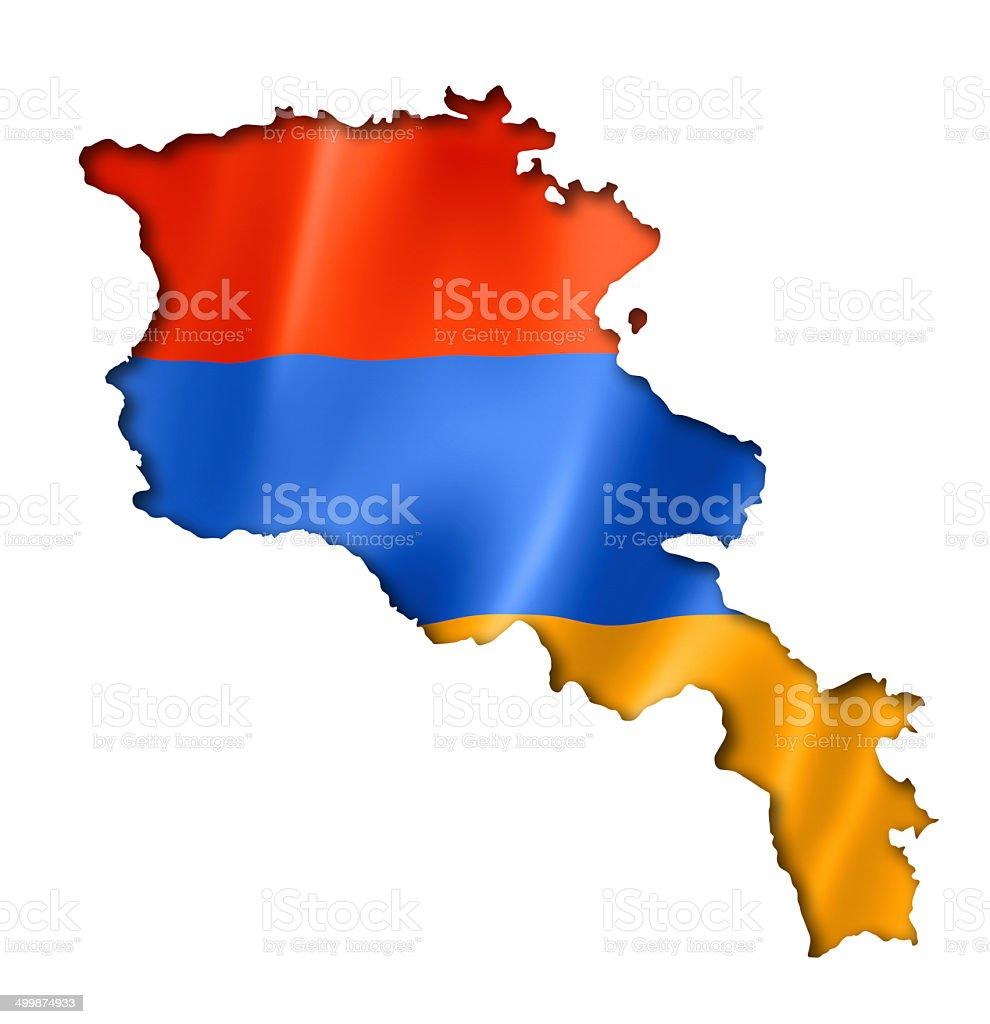 Armenian flag map stock photo