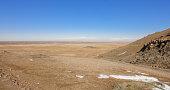 Armenian highland near Ararat mountain. Ararat plateau