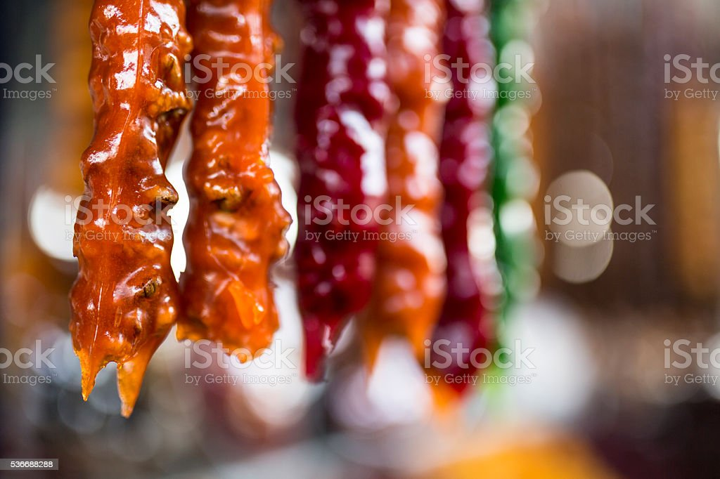 Armenian home made traditional sweets at the market in Yerevan. stock photo