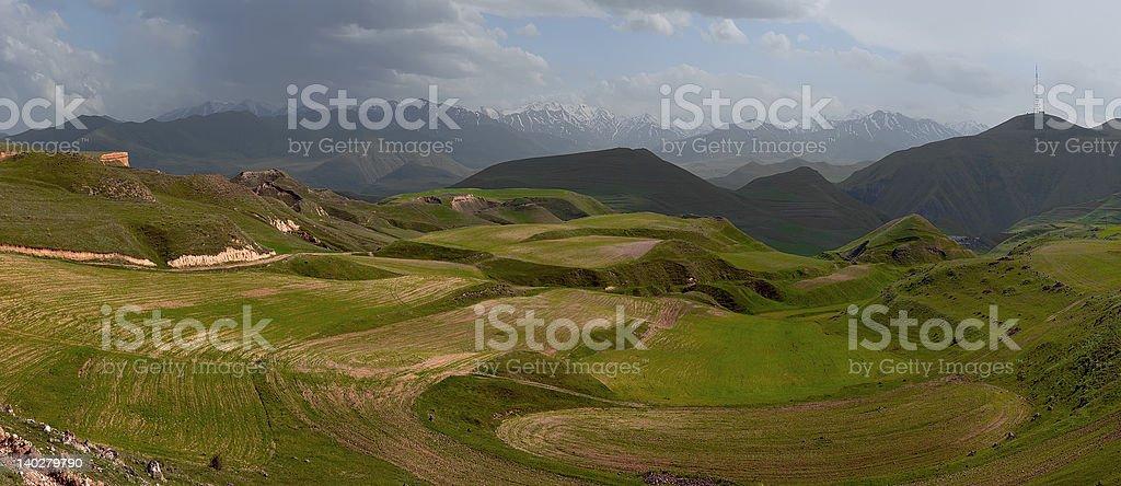 Armenian ploughland royalty-free stock photo