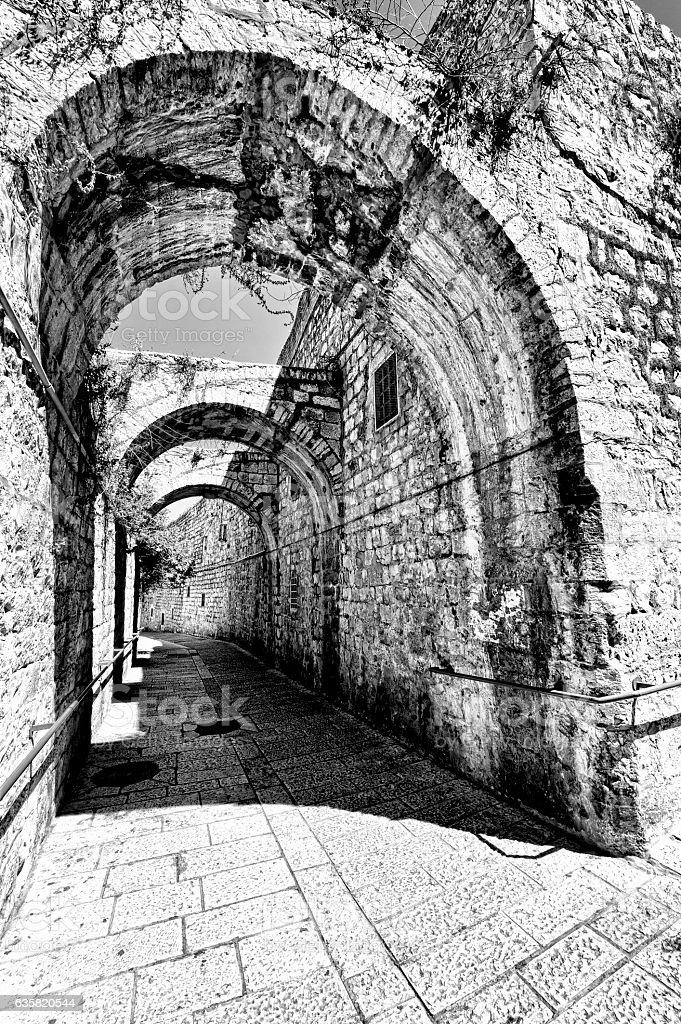 Armenian Quarter of Jerusalem stock photo