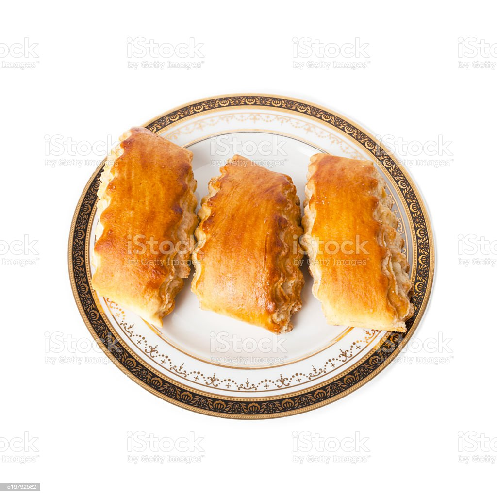 Armenian traditional cake Gata on the plate stock photo