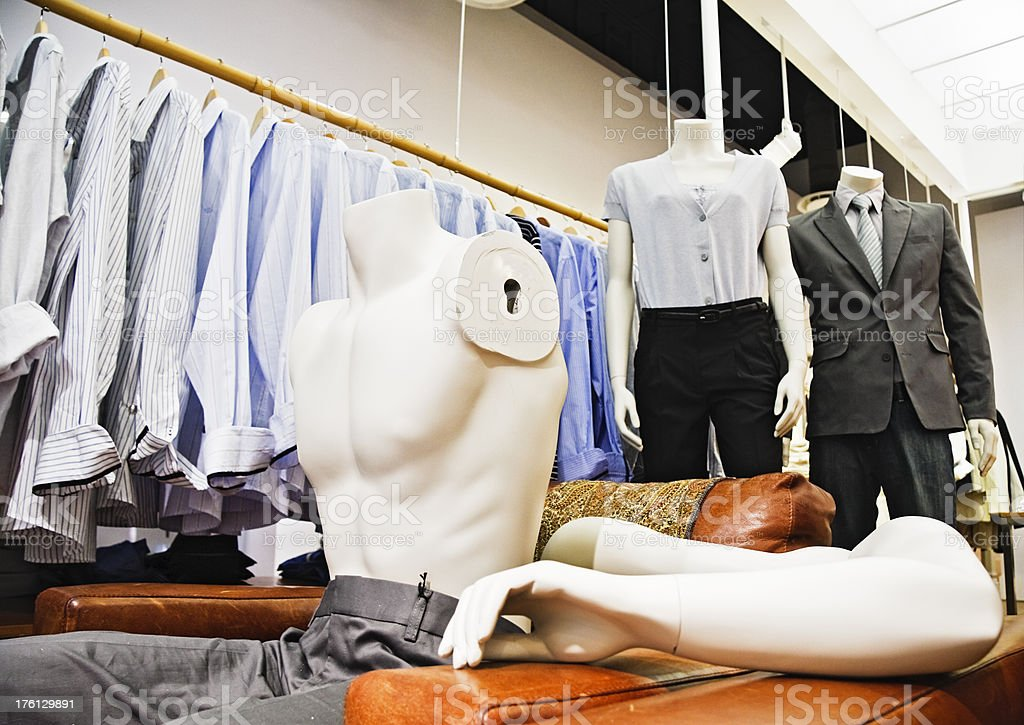Armless male mannequin in a clothing store royalty-free stock photo