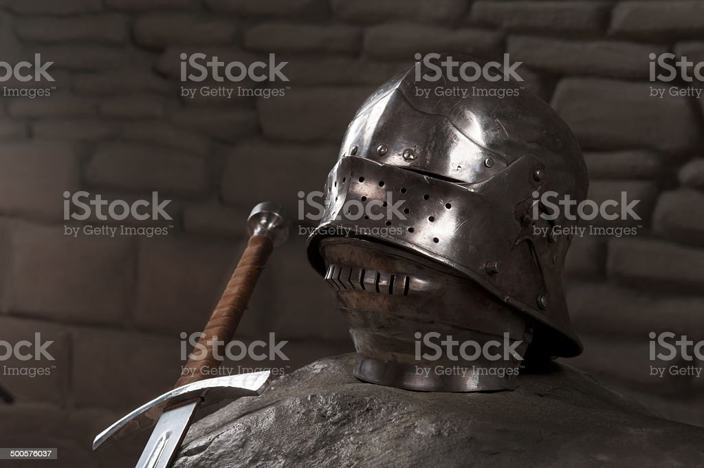 Armor of the medieval knight royalty-free stock photo