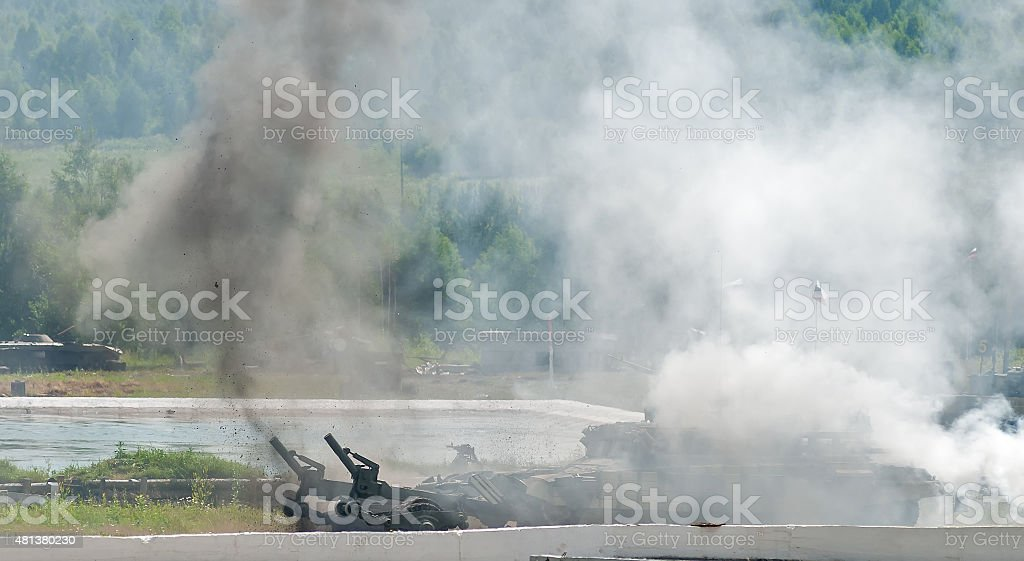 Armored deminer BMR-3M in action. Russia stock photo