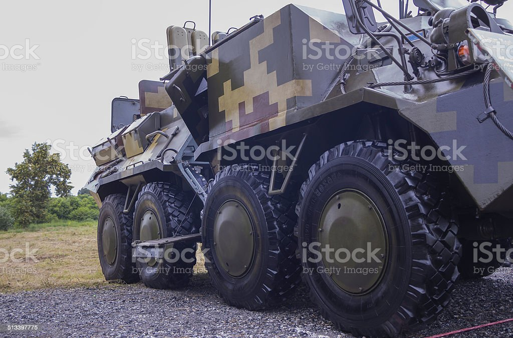 Armored personnel carrier stock photo