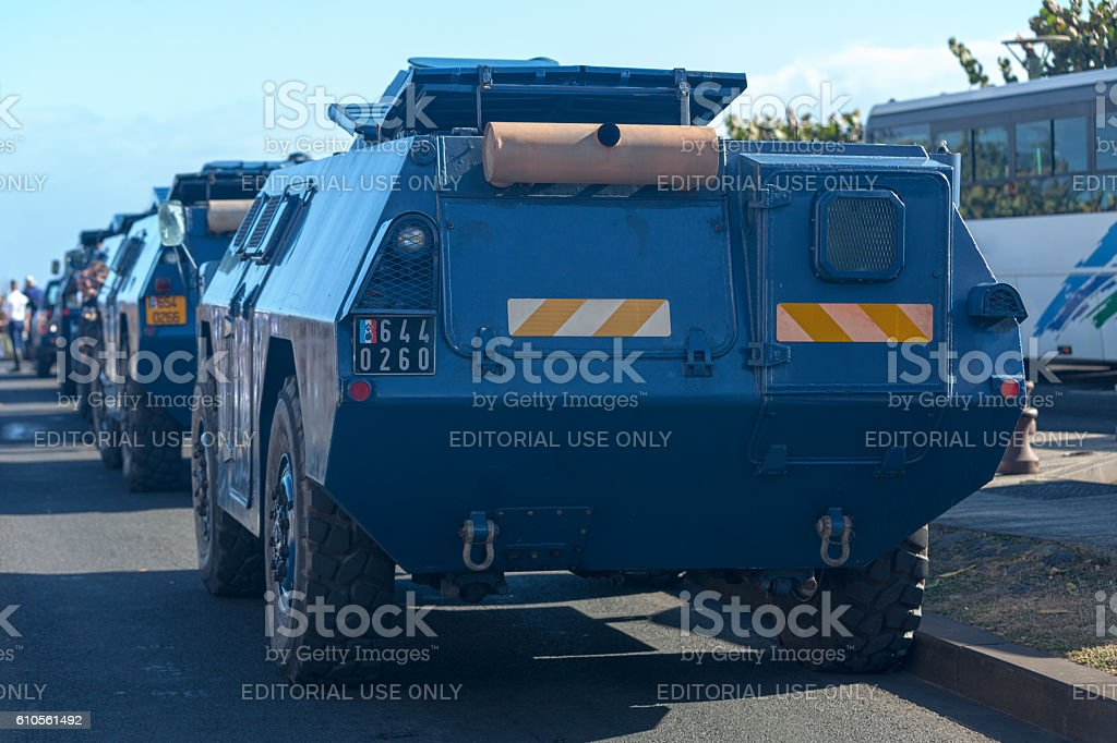 Armored vehicles from the GBGM stock photo