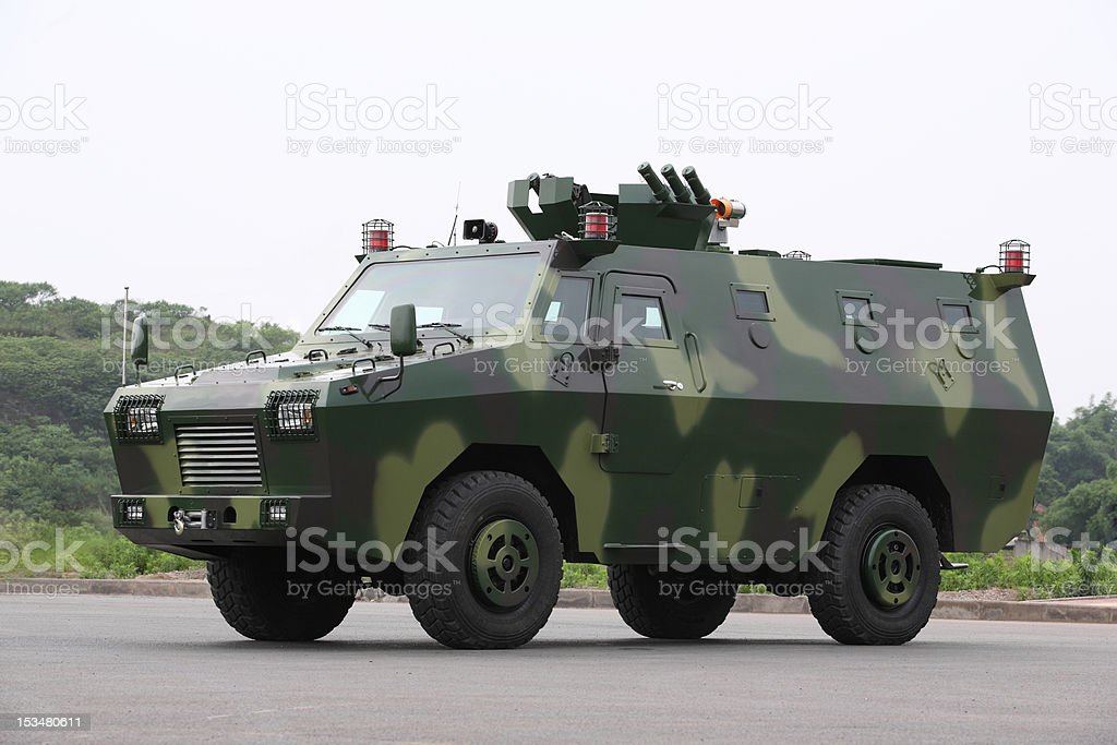 armored vehicles stock photo